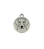 Blue Lacy Portrait Charm