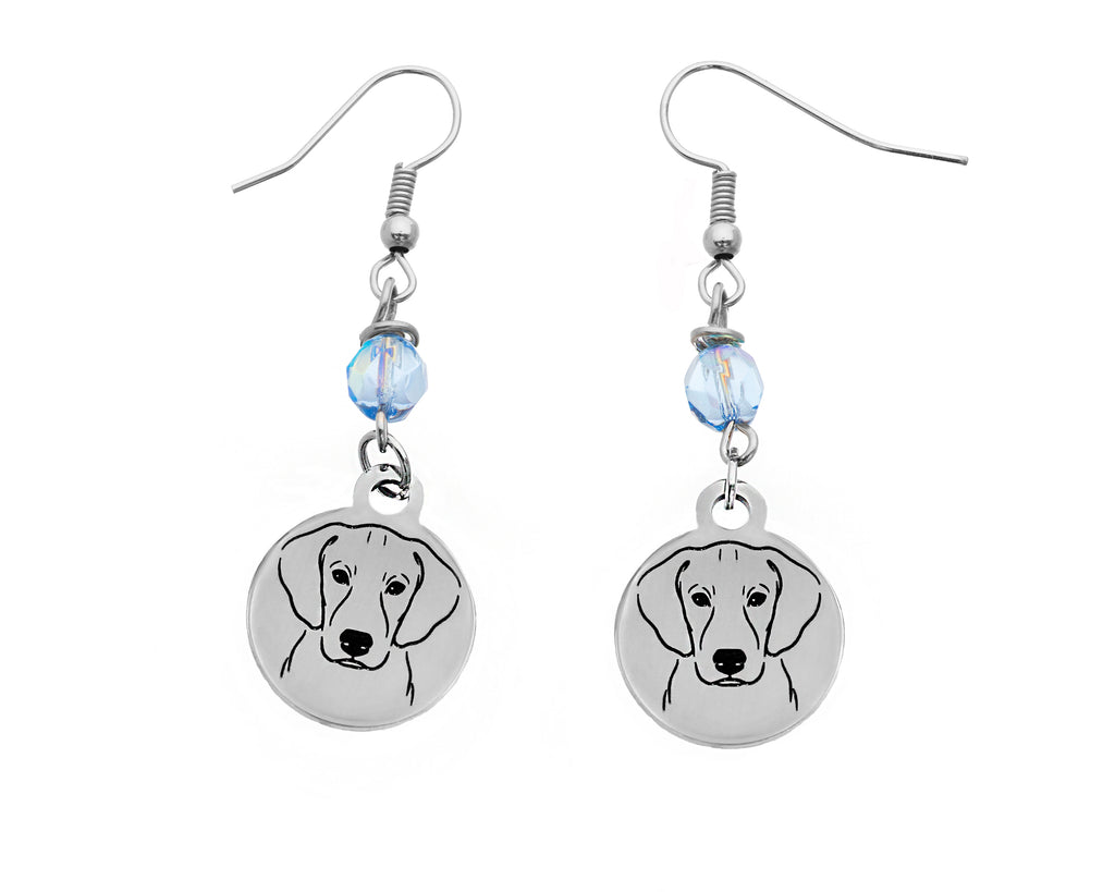 Blue Lacy Portrait Earrings
