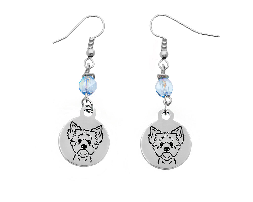 Yorkie Portrait Earrings