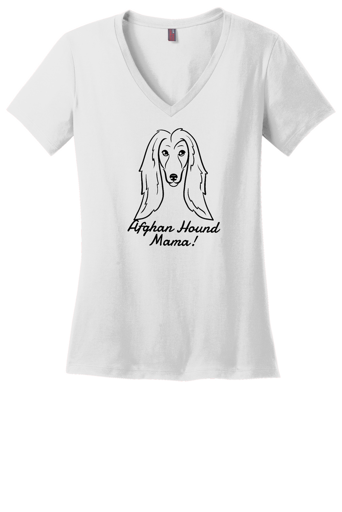 Afghan Hound Mama Ladies T-Shirt (Shirts Run Small)
