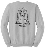 Afghan Hound Mama Unisex Sweatshirt (Run Big)