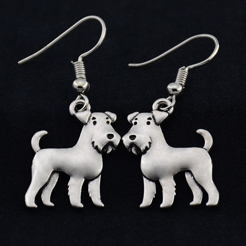 Airedale Terrier Vintage Earrings
