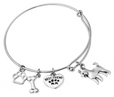 Airedale Terrier Bangle Bracelet