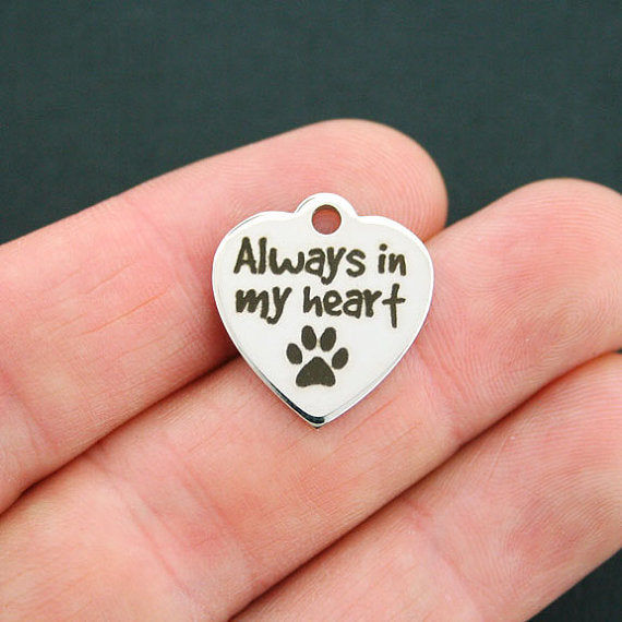 'Always In My Heart' Dog Charm