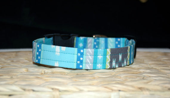 Blue Aztec Collar