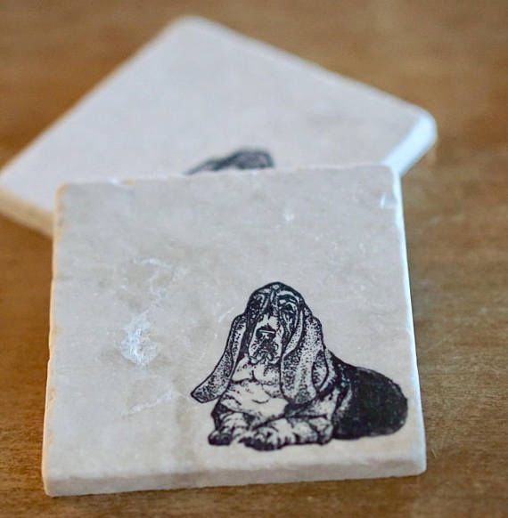 Basset Hound Coaster or Trivet Set