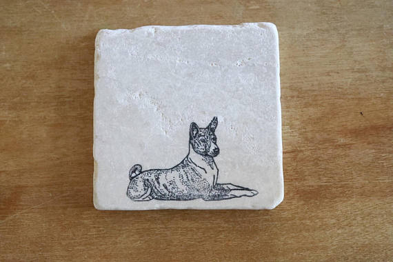 Basenji Coaster or Trivet Set