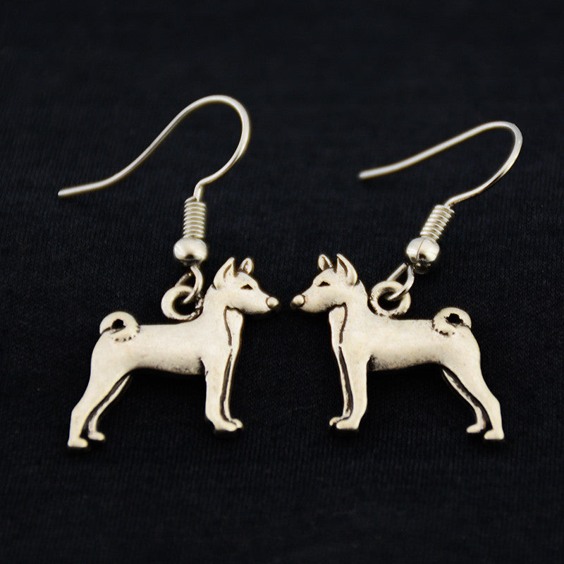 Basenji Vintage Earrings