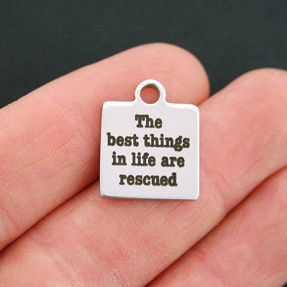 'Best Things Are Rescued' Charm