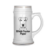 Welsh Terrier Papa! Beer Stein