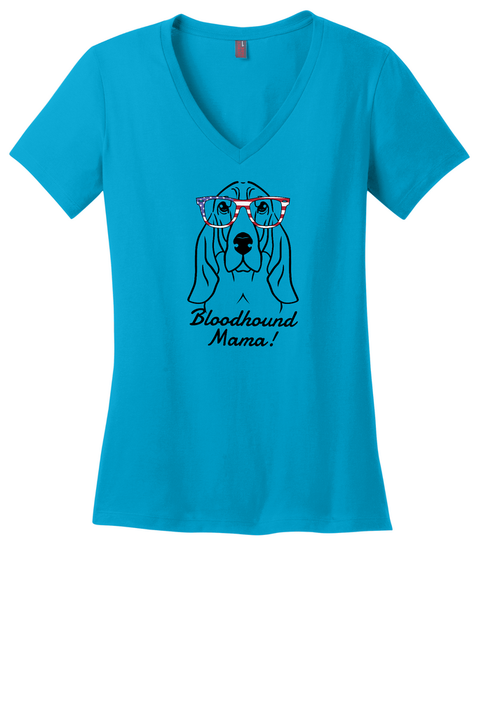 Bloodhound Mama Ladies T-Shirt (Shirts Run Small)