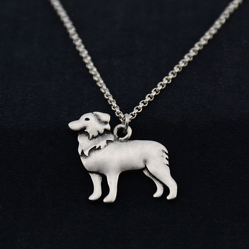 Border Collie Vintage Necklace