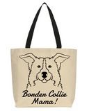 Border Collie Mama Tote Bag