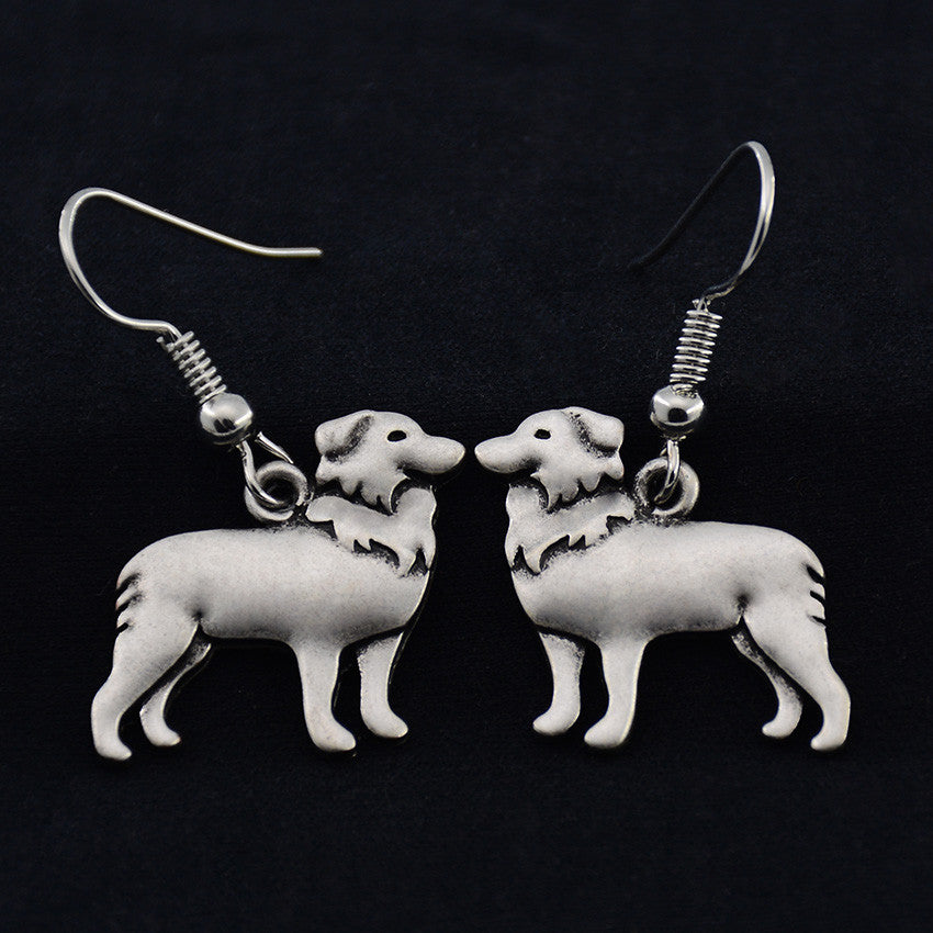 Border Collie Vintage Earrings
