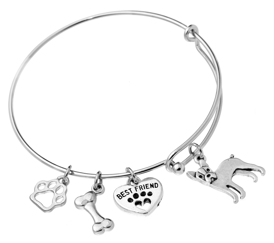 Boston Terrier Bangle Bracelet