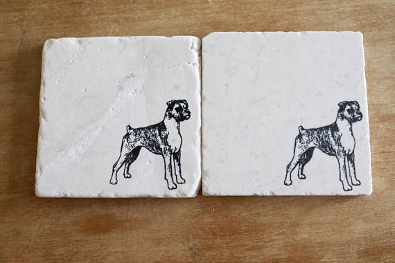 Boxer (natural ears) Coasters
