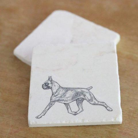 Boxer (cropped ears) Coasters