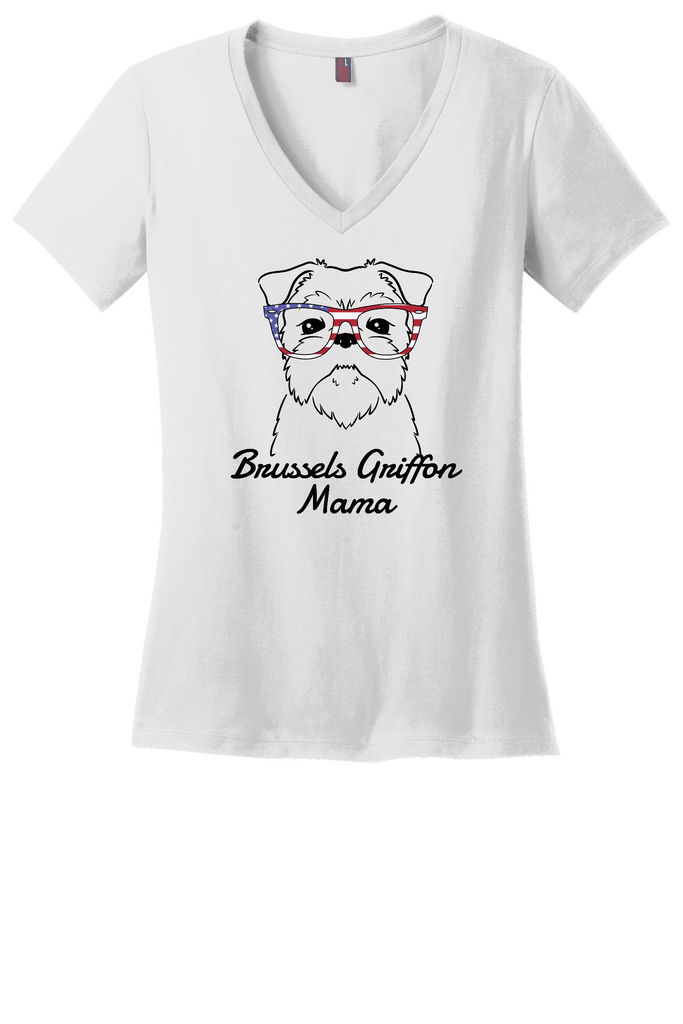 Brussels Griffon Mama Ladies T-Shirt (Shirts Run Small)