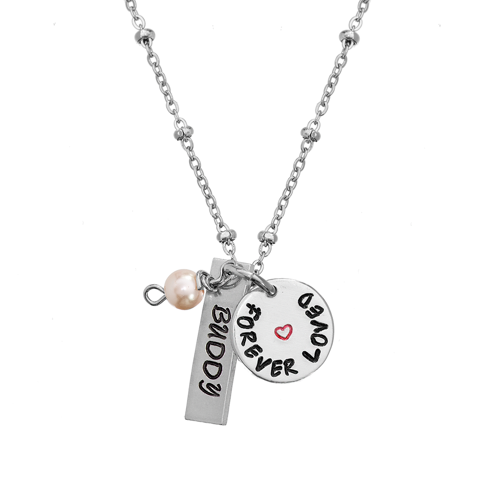 Personalized 'Forever Loved' Memorial Necklace