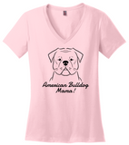 American Bulldog Mama Ladies (3XL) T-Shirt (50% OFF)
