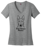 Bull Terrier Mama Ladies T-Shirt (Shirts Run Small)