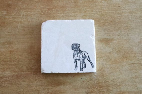 American Bulldog Coaster or Trivet Set