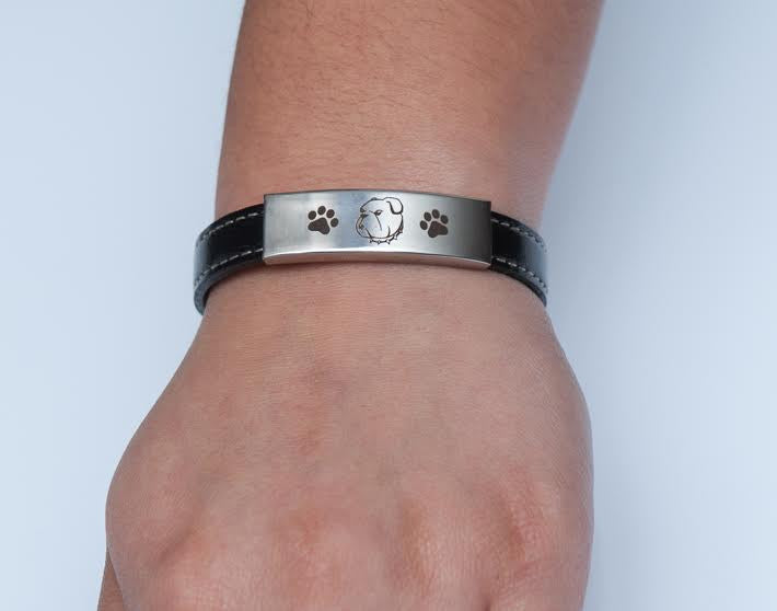 Premium Engraved English Bulldog Bracelet (50% OFF)