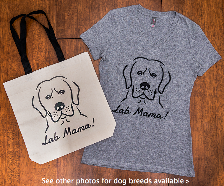 Dog Mama Gift Bundle (Shirt + Tote) (Pick Your Breed)