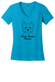 Cairn Terrier Mama Ladies T-Shirt (Shirts Run Small)