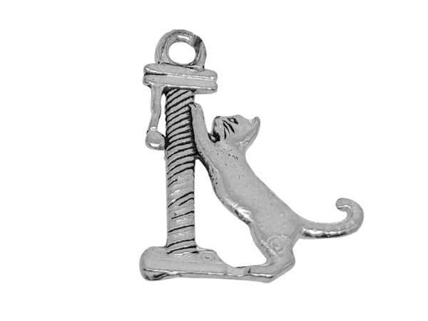 Antique Cat Scratching Post Charm