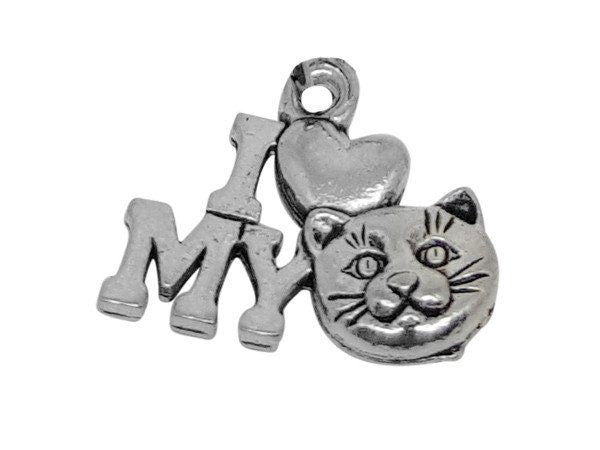 I Love My Cat Charm