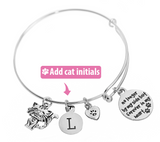 Customizable 'In Loving Memory' Cat Bracelet