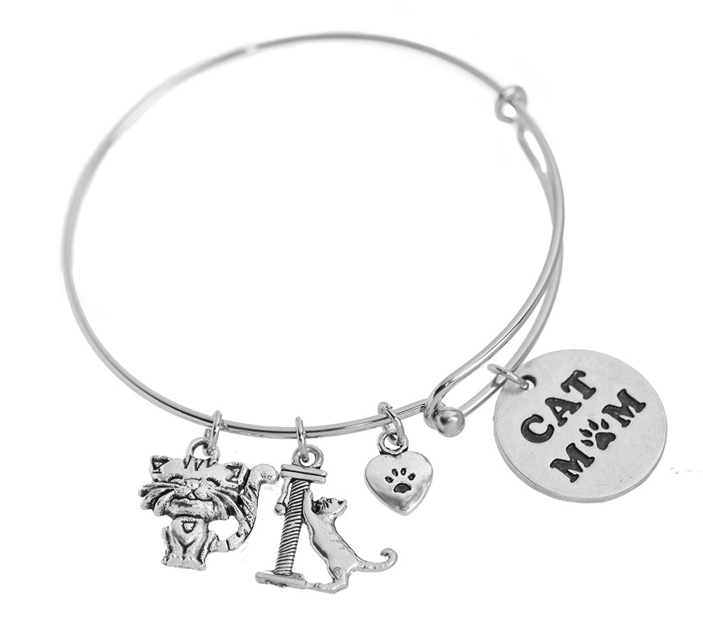 stamped inspired bangle for dog mom charm hand alex bangles name gift product and hugerect her lover ani bracelet personalized animal