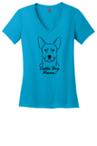 Australian Cattle Dog Mama Ladies T-Shirt (Shirts Run Small)