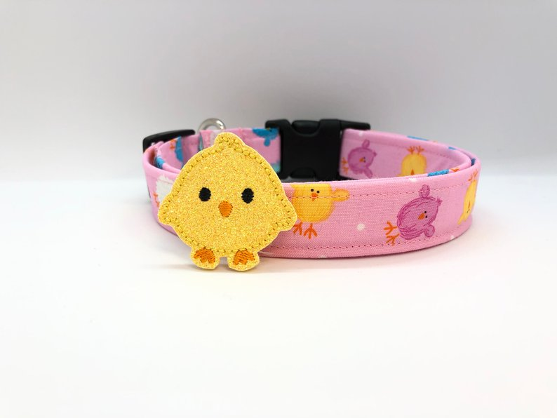 Chicks Easter Dog Collar (w/ Optional Yellow Chick Embellishment)