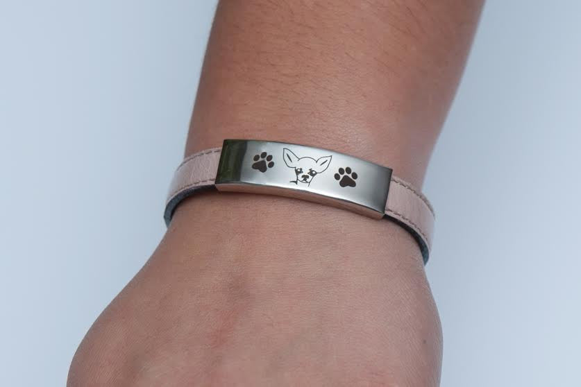 Premium Engraved Chihuahua Bracelet (50% OFF)