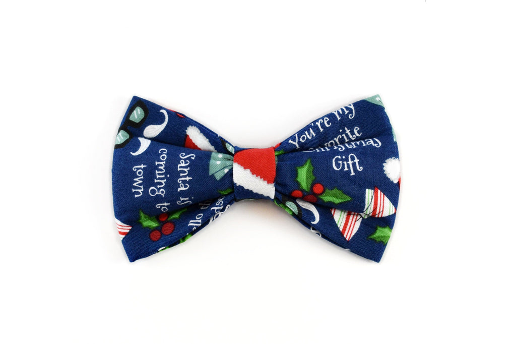 Christmas Blue Bow Tie