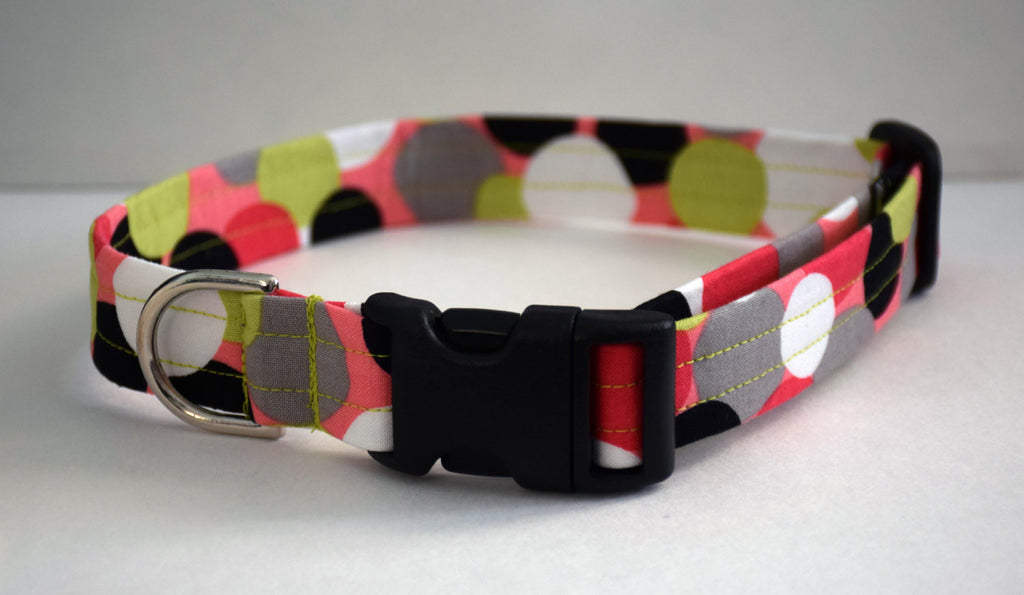 Coral Polka Dot Collar