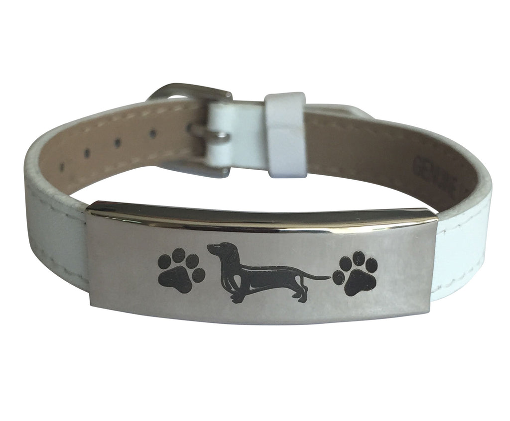Adjustable Engraved Dachshund Bracelet (50% OFF)