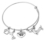 Dachshund Bangle Bracelet