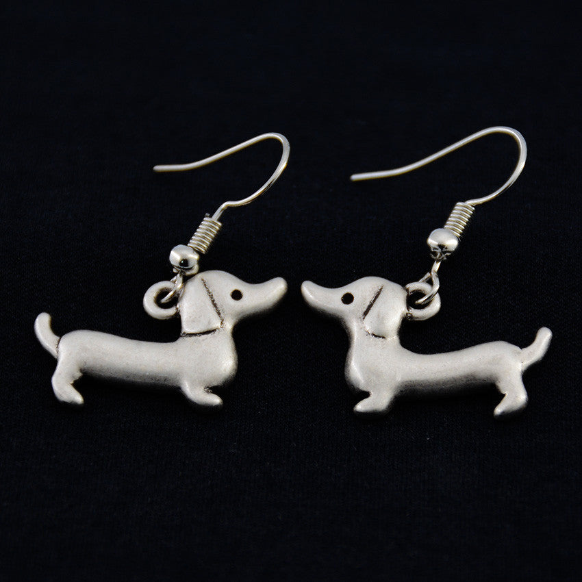 Dachshund Vintage Earrings