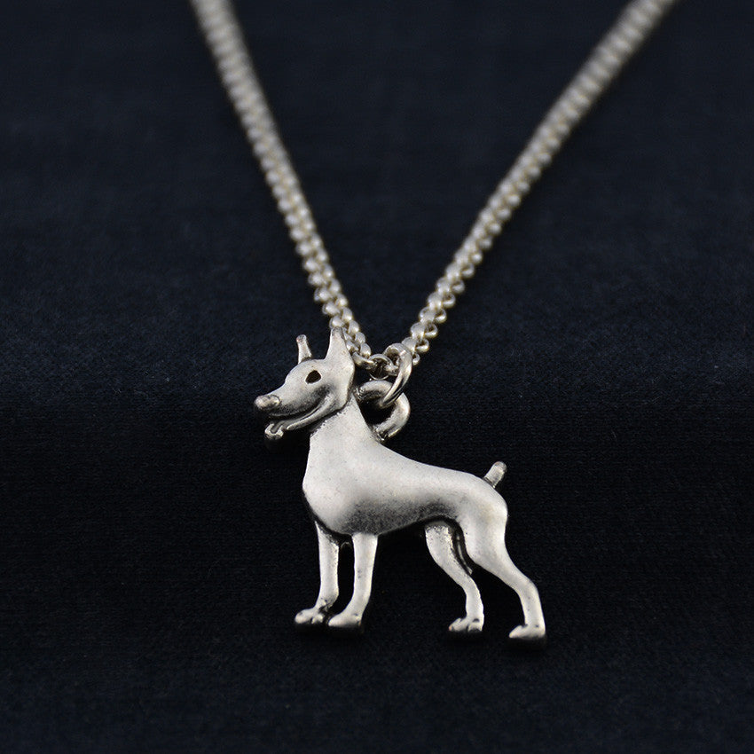 Miniature Pinscher Vintage Necklace