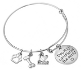 'Dog Hair Completes The Outfit' Bangle Bracelet