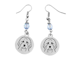 Goldendoodle Portrait Earrings