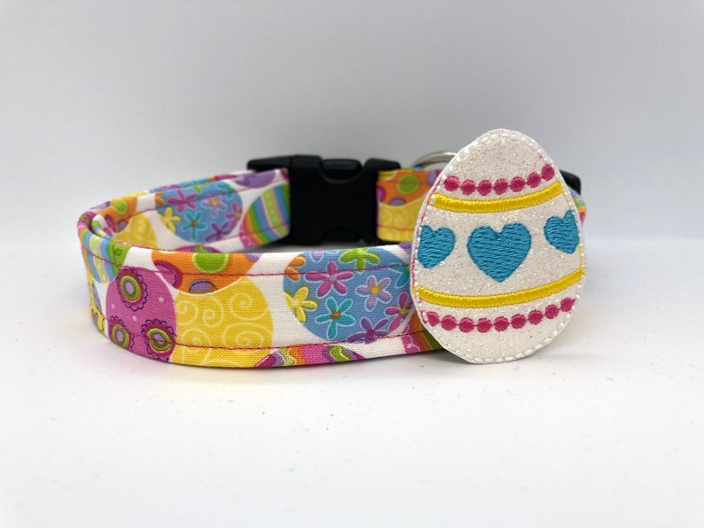 Easter Egg Dog Collar (w/ Optional Easter Egg Embellishment)