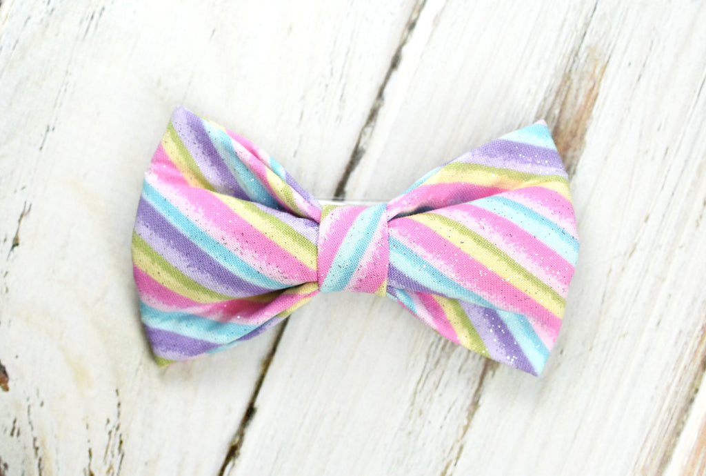 Easter Stripes Bow Tie