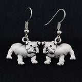 English Bulldog Vintage Earrings