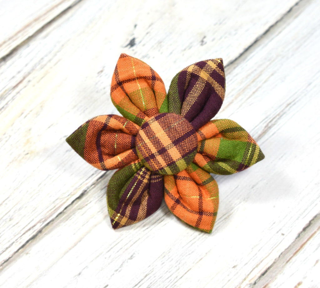 Fall Plaid Flower