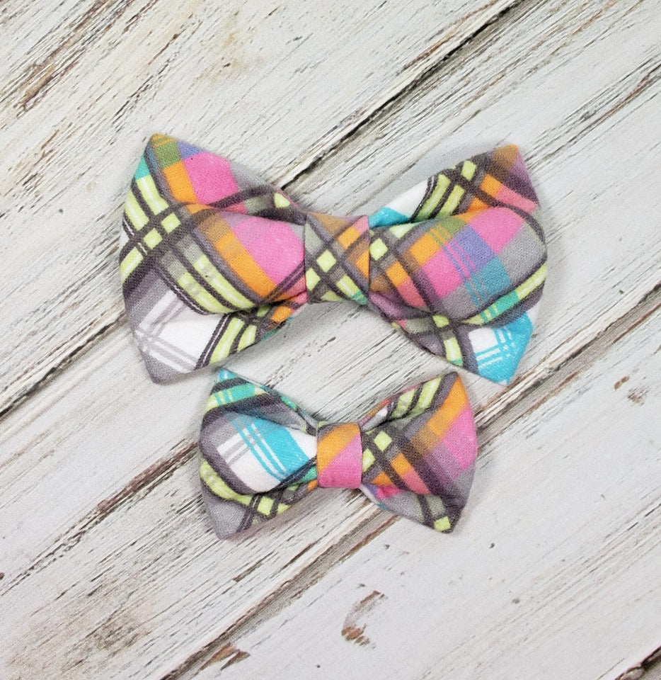 Bright Flannel Bow Tie
