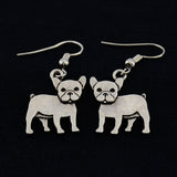 French Bulldog Vintage Earrings